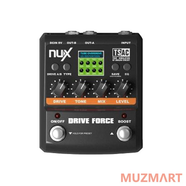 Эмулятор педалей overdrive и distortion NUX Drive Force